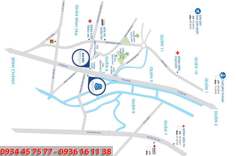 Vị trí dự án căn hộ City Gate Towers